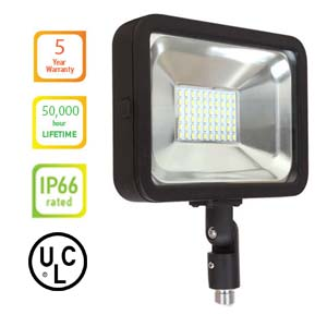 LED FLOOD LIGHT 30W Knuckle - Color
